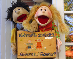 Kindergarten Stoppelhopser Handpuppen